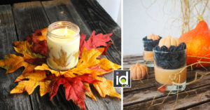 candele autunnali per una casa più accogliente