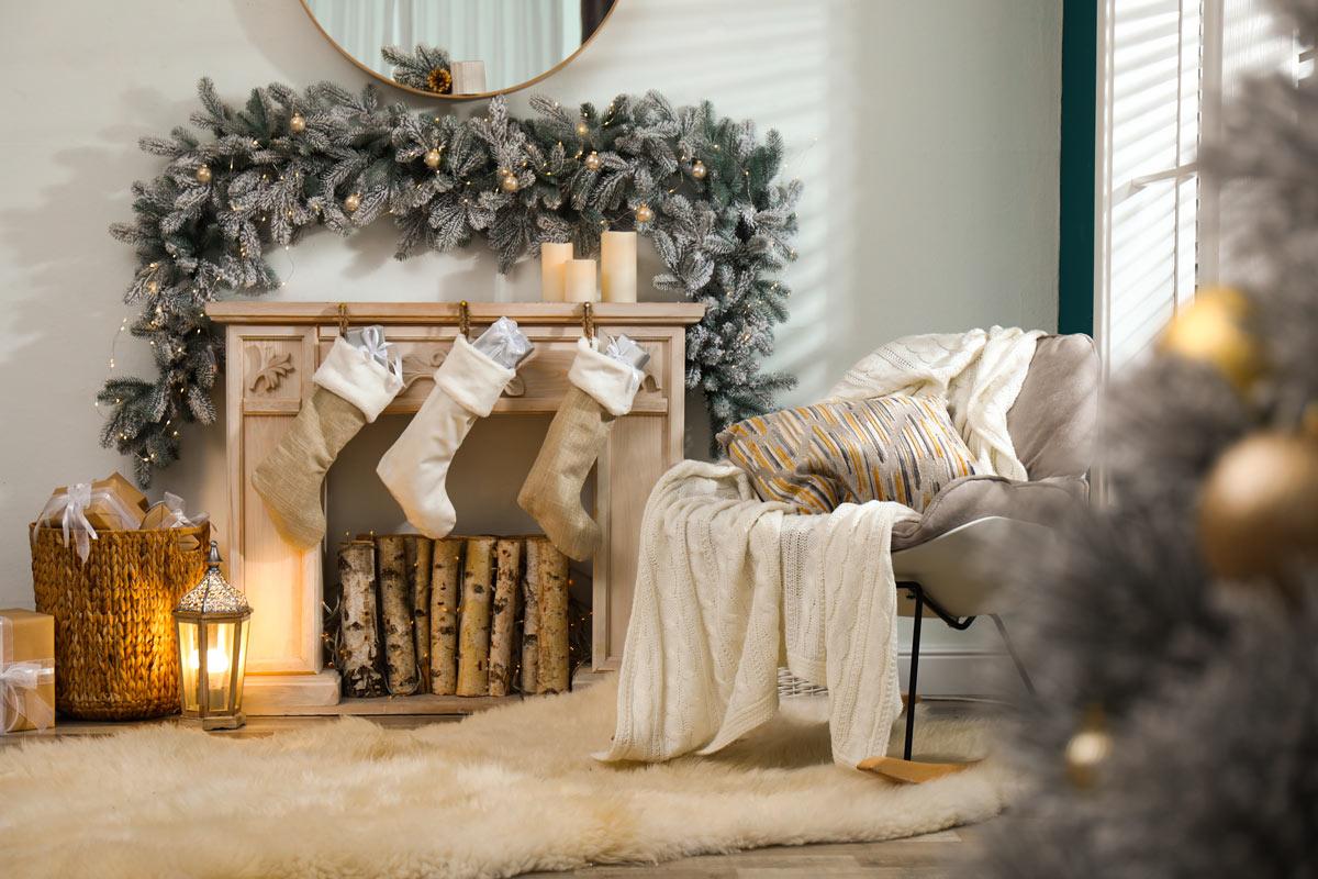 Decorazioni natalizi per il salotto