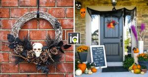 decorazioni di Halloween per le porte