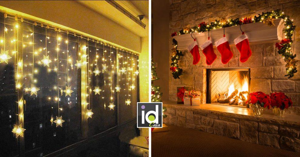 Le luci natalizie che illuminano a festa la casa