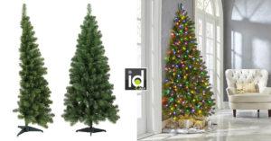 un mezzo albero di Natale