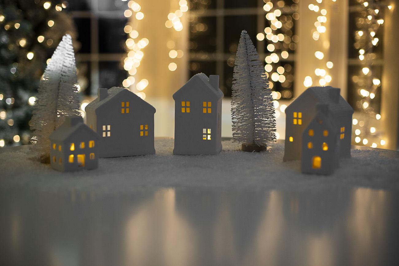 Paesaggi invernali che decorano casa