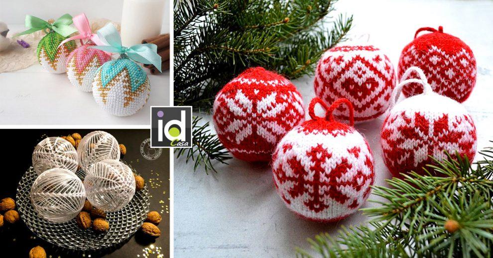Le palline di Natale fatte a mano per un albero magnifico