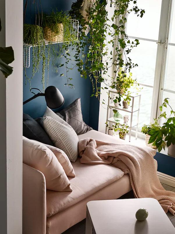 Angolo di piante verdi ispirazioni IKEA.
