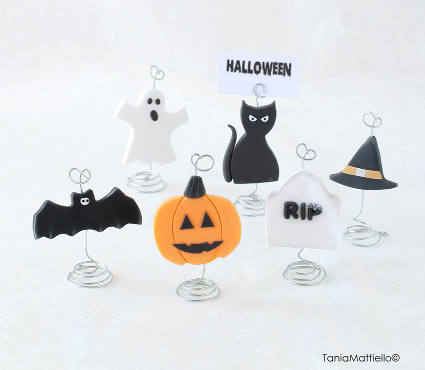 Decorare la tavola con i segnaposto di Halloween