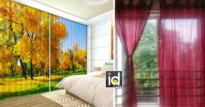 Le tende che decorano casa in autunno