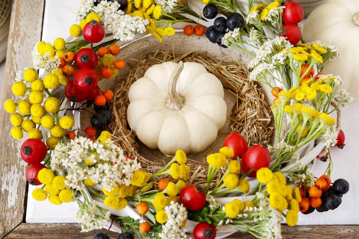 ispirazioni per una splendida decorazione con le zucche