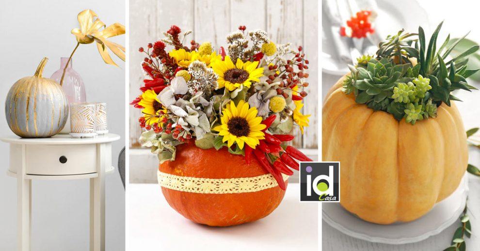 Ispirazioni per decorare casa con le zucche.