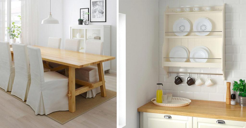 Mobili IKEA stile shabby chic moderno.