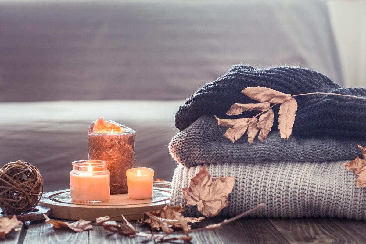 benessere con le candele in casa