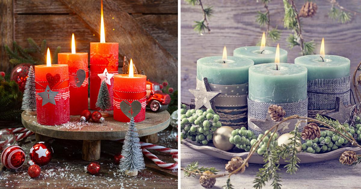 composizioni natalizie con le candele