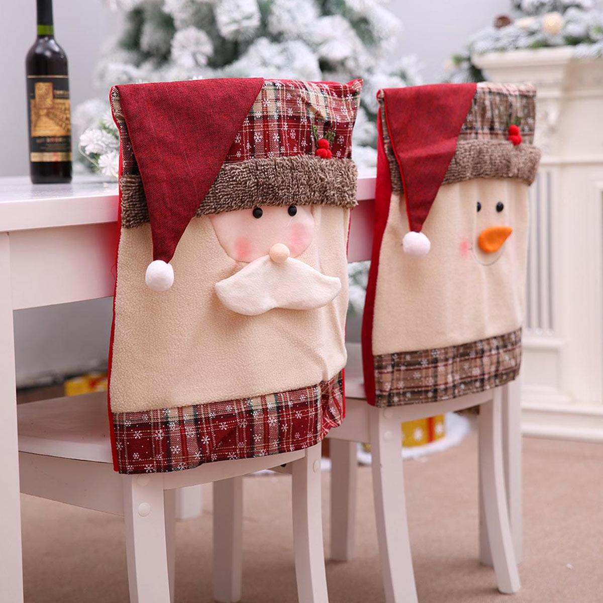 Le copri sedie natalizie.