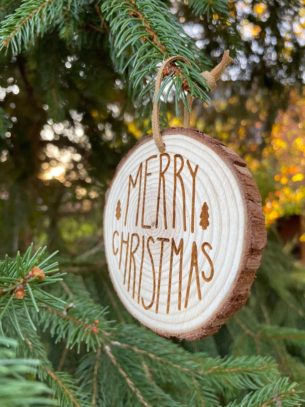 Le decorazioni natalizie in legno.
