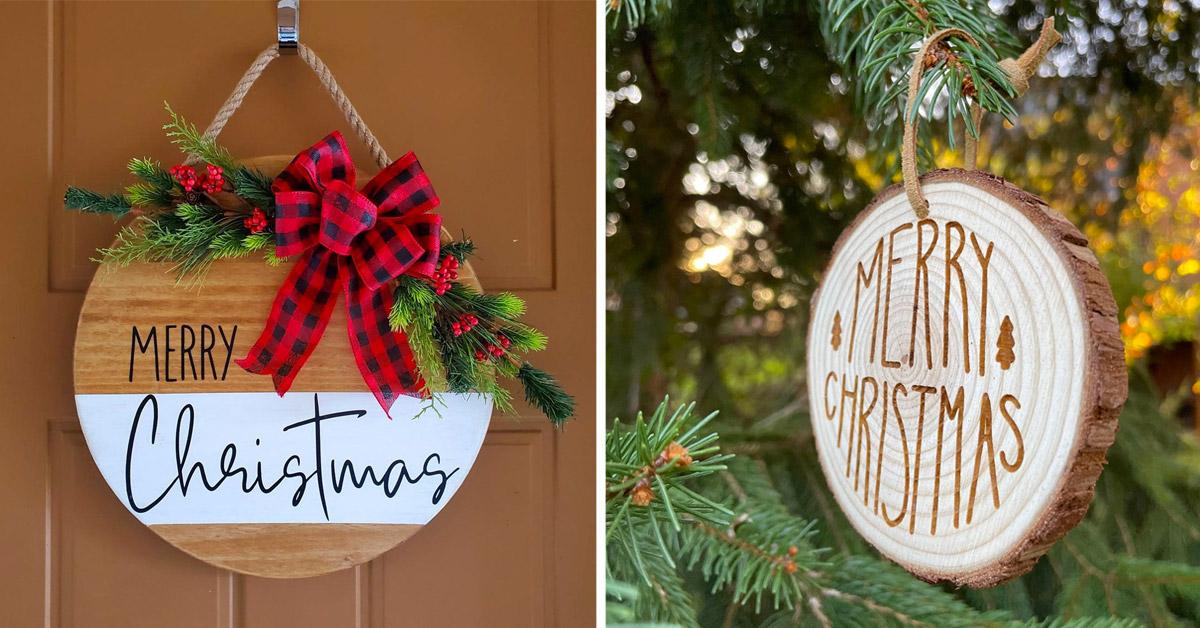 Le decorazioni natalizie in legno