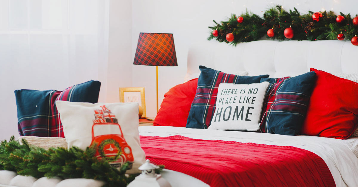 decorazioni invernali per la camera da letto