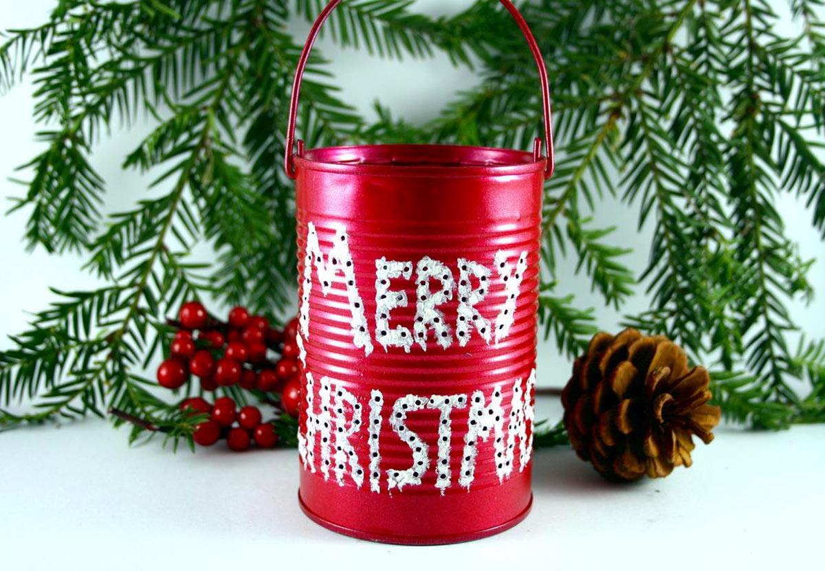 lanterna natalizia con il riciclo creativo
