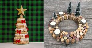 Riciclare i tappi di sughero per decorare il Natale