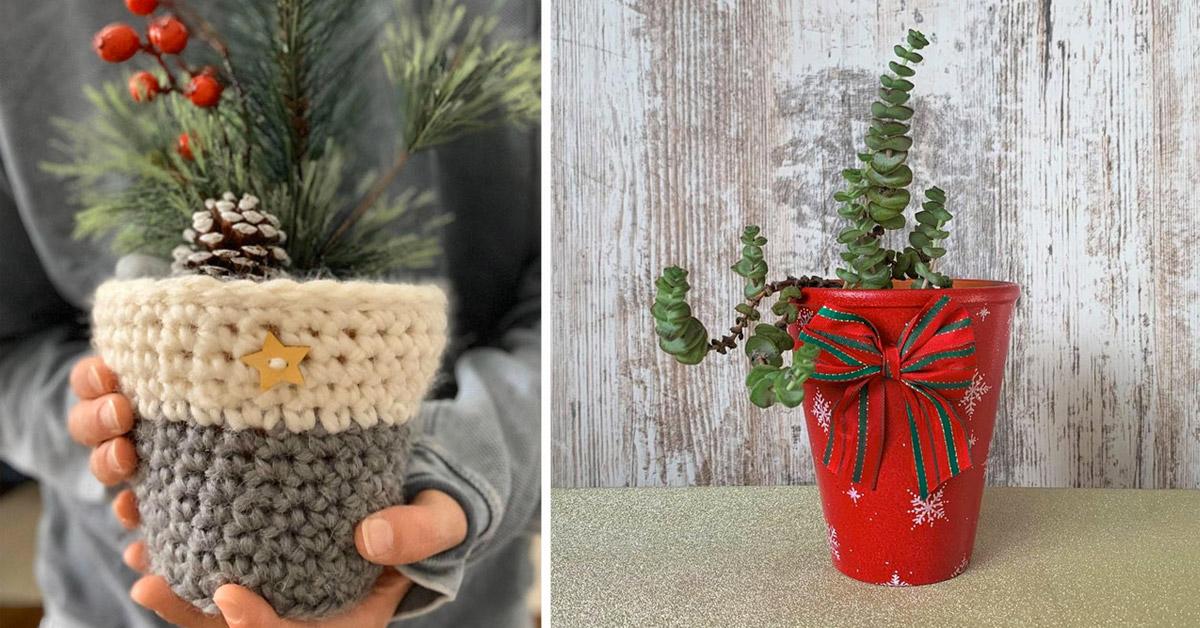 vaso decorativo invernale
