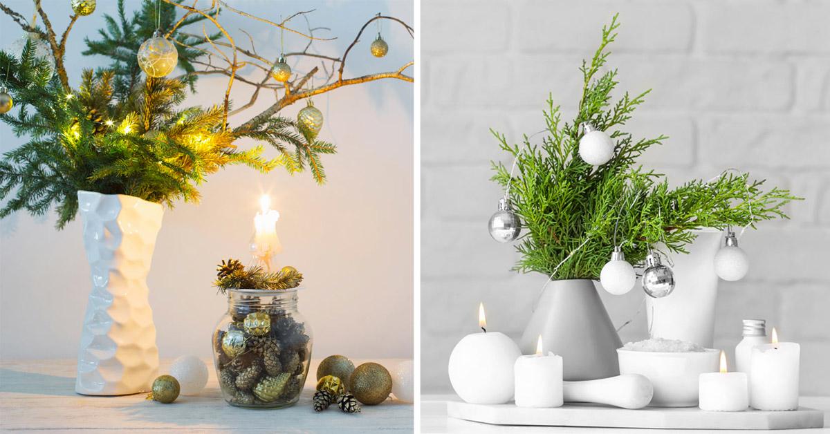 Un vasetto natalizio creativo di design.