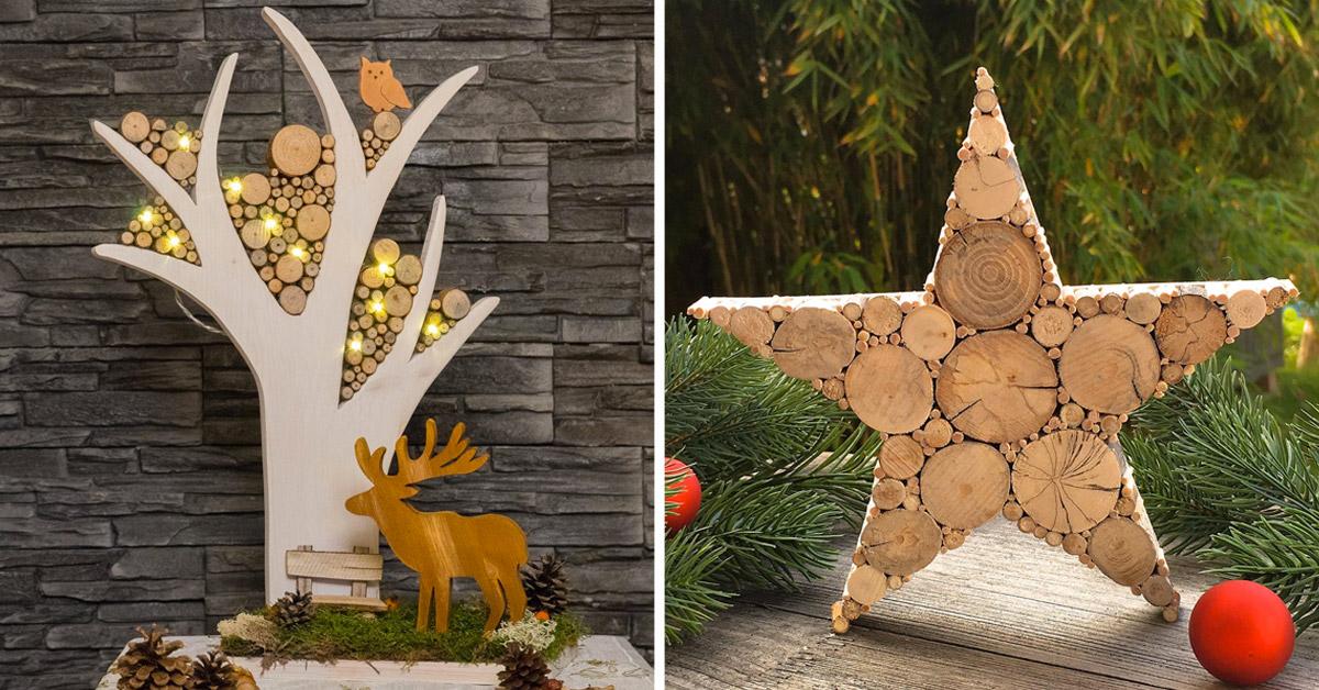 Woodart Natale: splendide decorazioni in legno