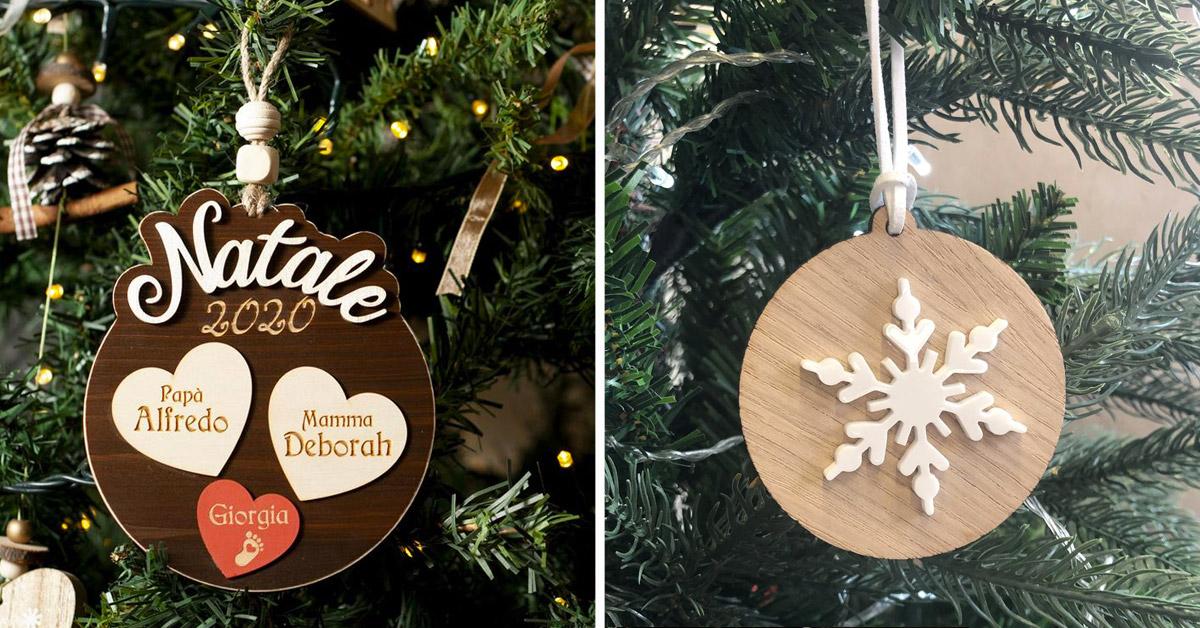 Decorazioni in legno per l'albero di Natale