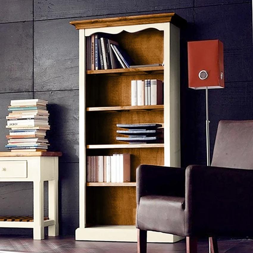 Bella libreria il legno per arredare ufficio in casa.