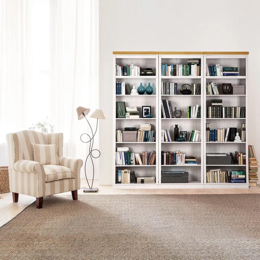 Scaffali e librerie per arredare un studio in casa.