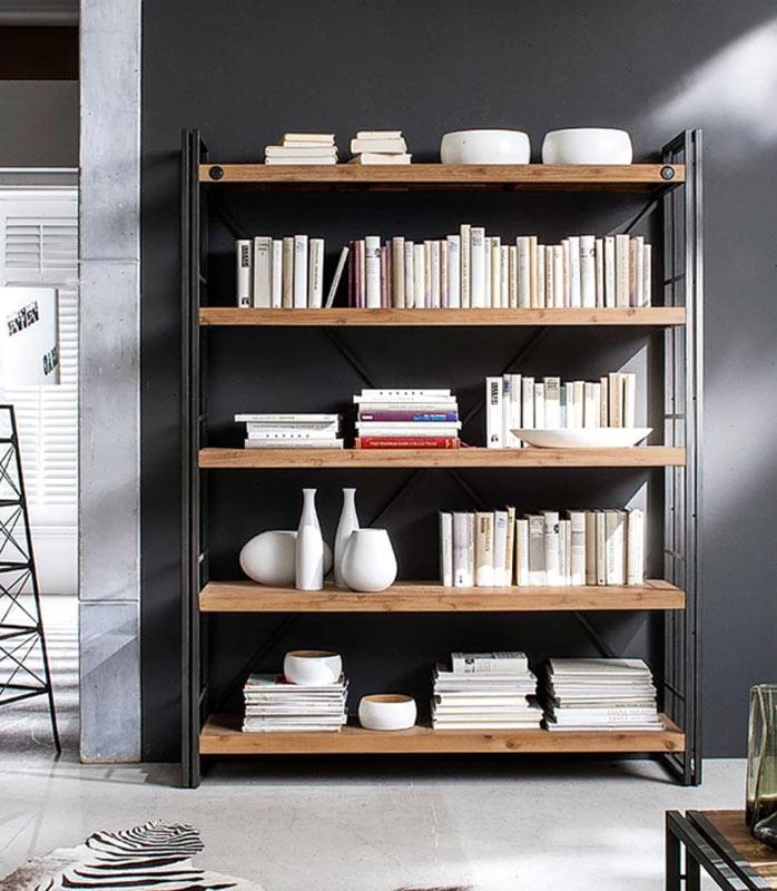 Libreria stile vintage per ufficio di casa.