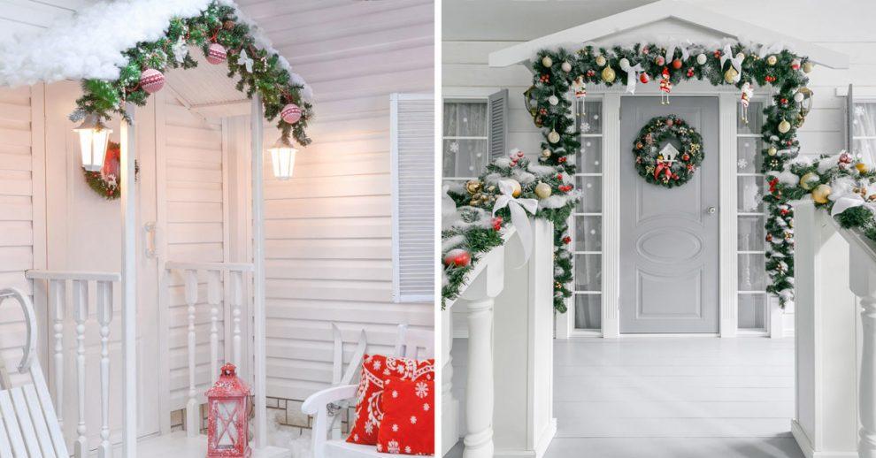 Addobbare portico Natale