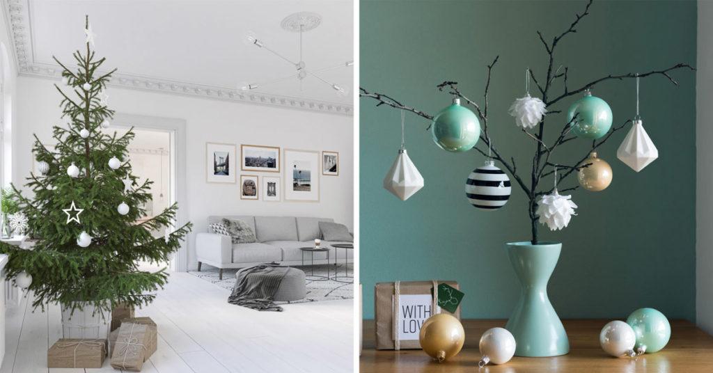 decorazioni minimal per Natale