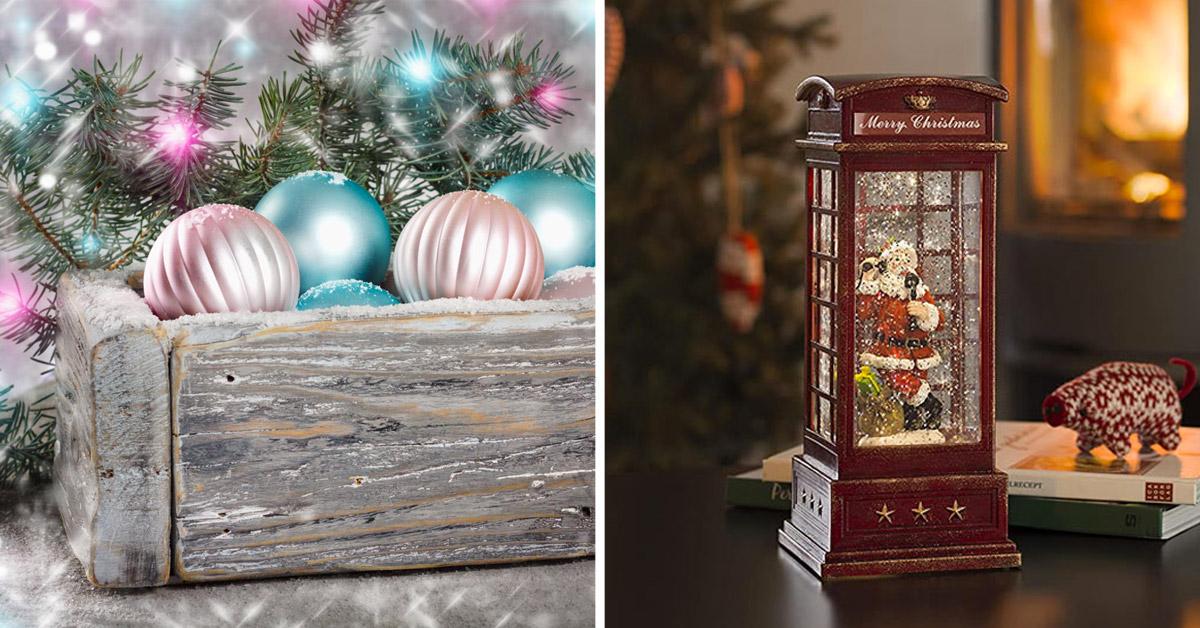 Decorazioni natalizie stile vintage.