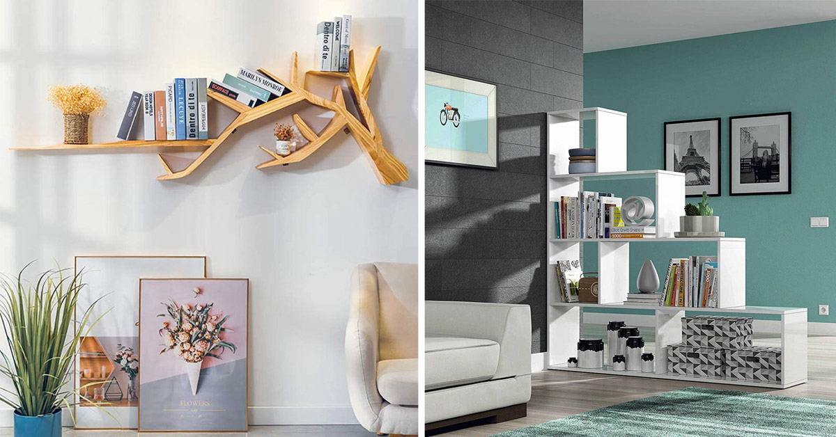 libreria moderna in soggiorno