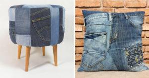 Riciclo creativo dei vecchi jeans