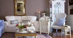 soggiorno in stile provenzale
