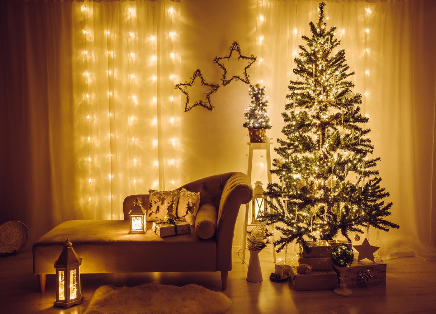 tende natalizie salotto