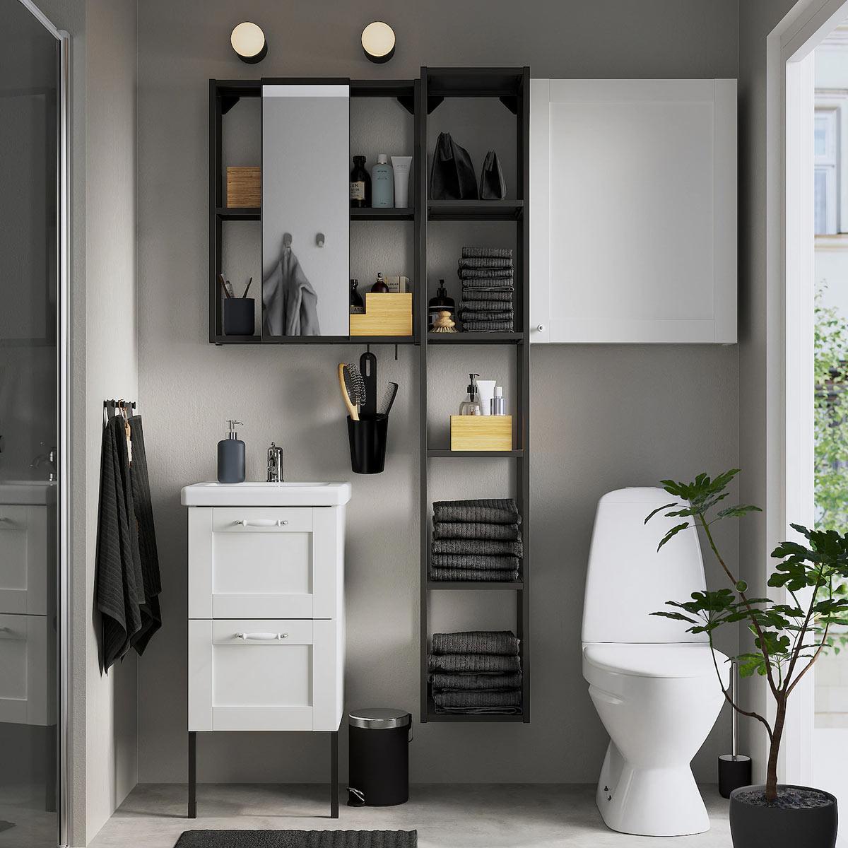 Arredare un bagno piccolo da IKEA.