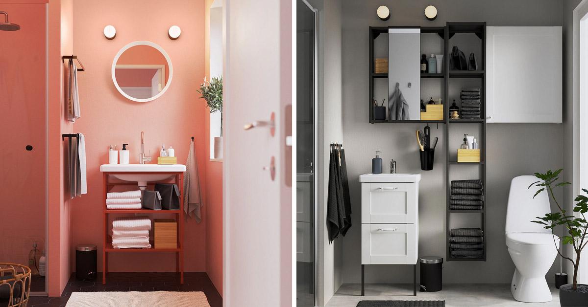 Arredare un bagno piccolo da IKEA