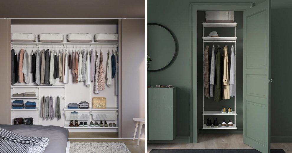 Cabina armadio IKEA.