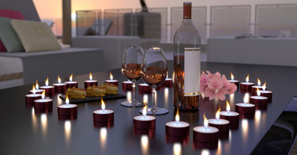 candele tealight decorazioni