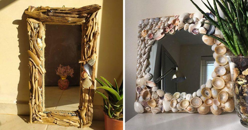 Specchio riciclo creativo fai da te.