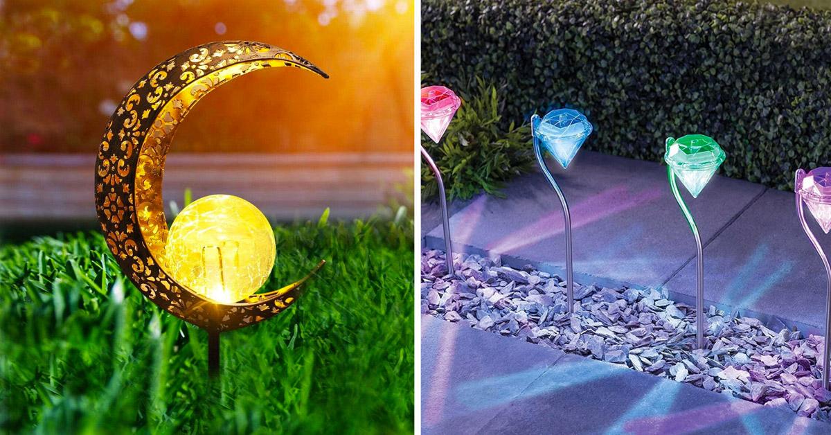 illuminazione ad energia solare di design in giardino