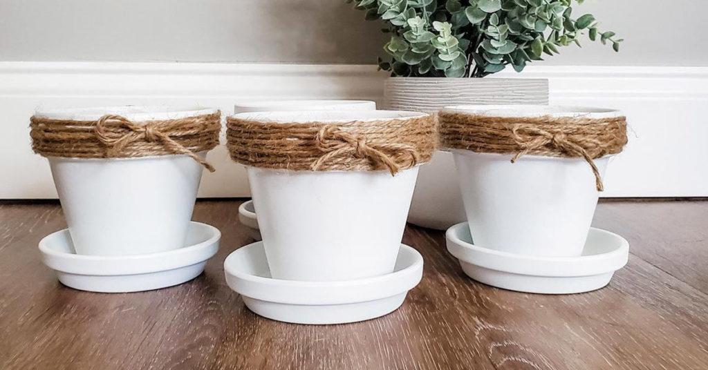 personalizzare un vaso di terracotta fai da te