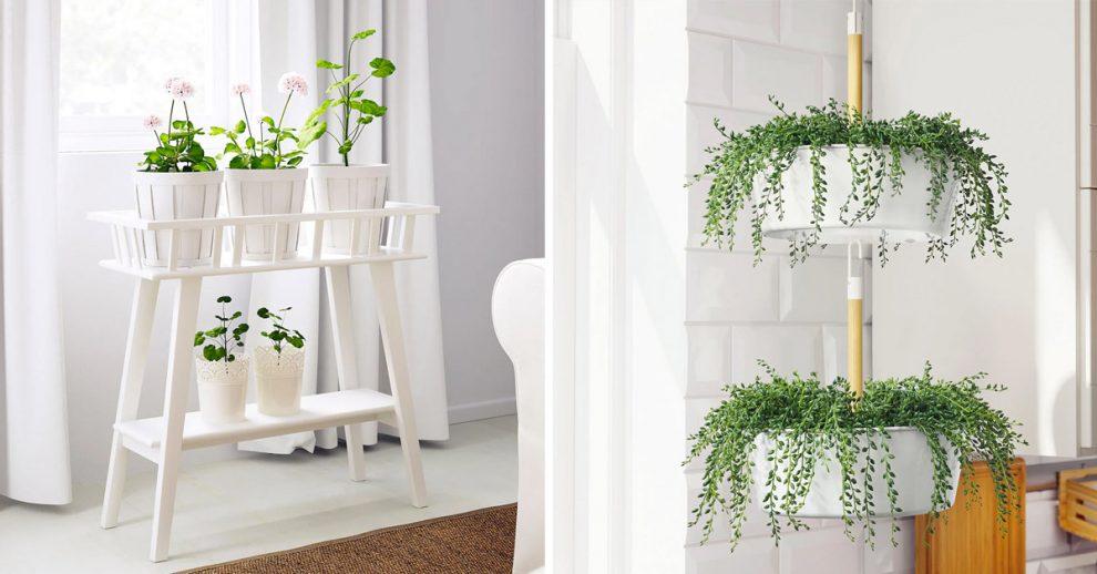 Porta piante IKEA.