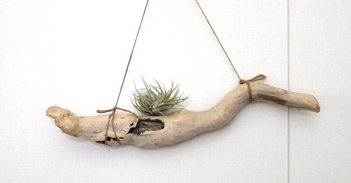 Ripiani creativi con legno di mare