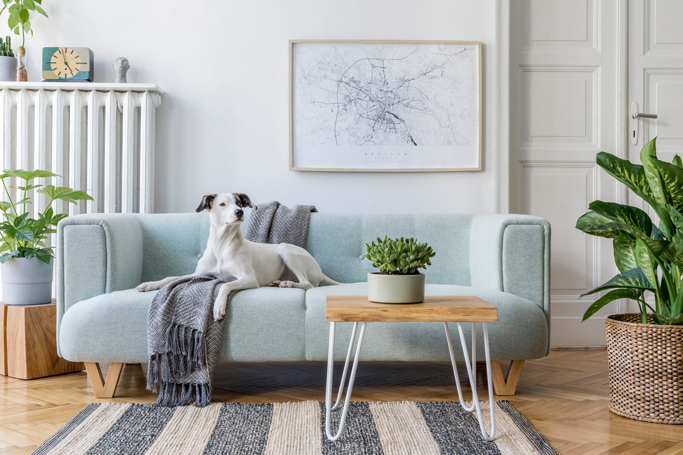 soggiorno in stile scandinavo