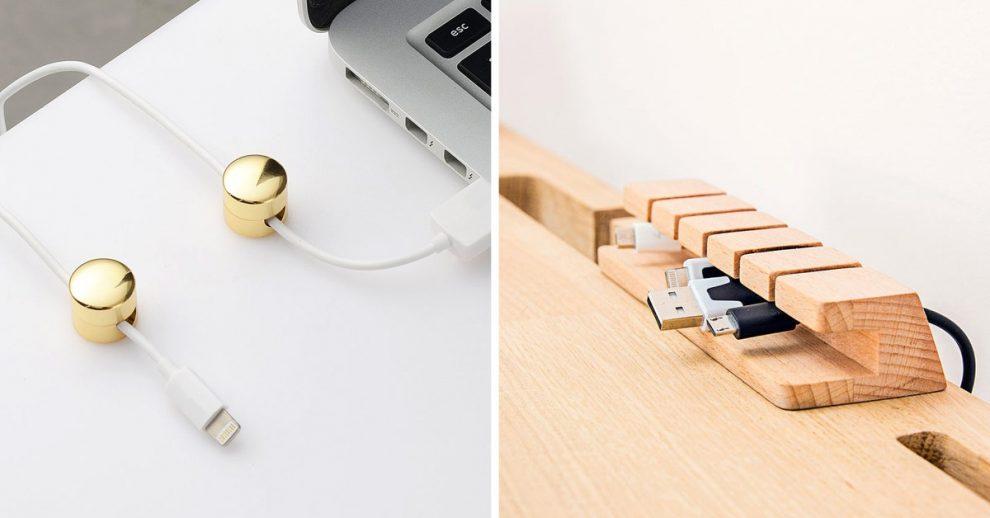 accessori furbi per organizzare i cavi sulla vostra scrivania