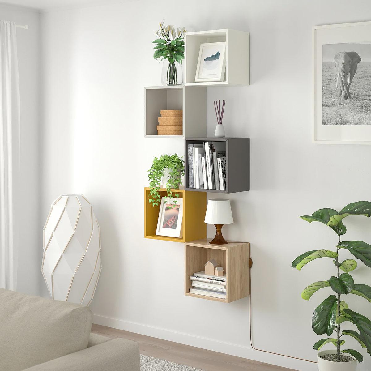 Mensole quadrate IKEA