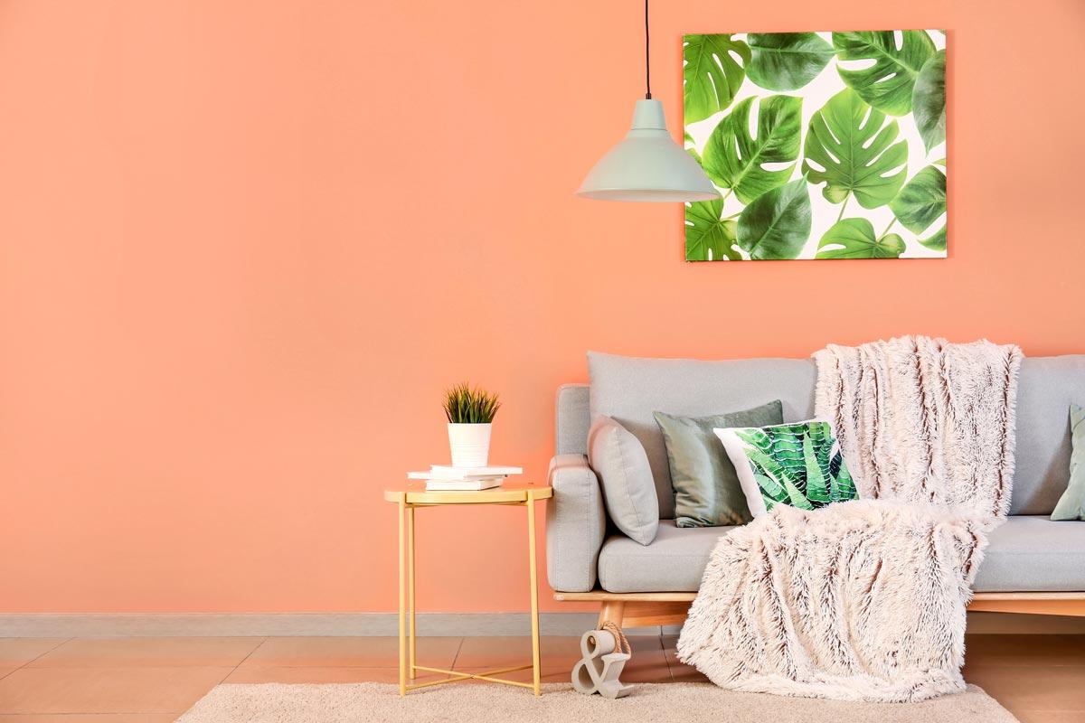 Il color pesca per le pareti