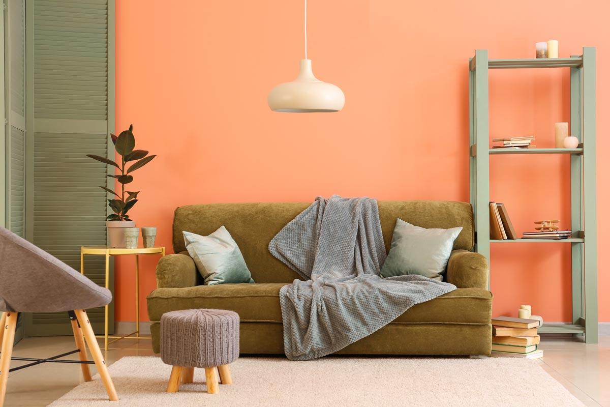 color pesca per le pareti