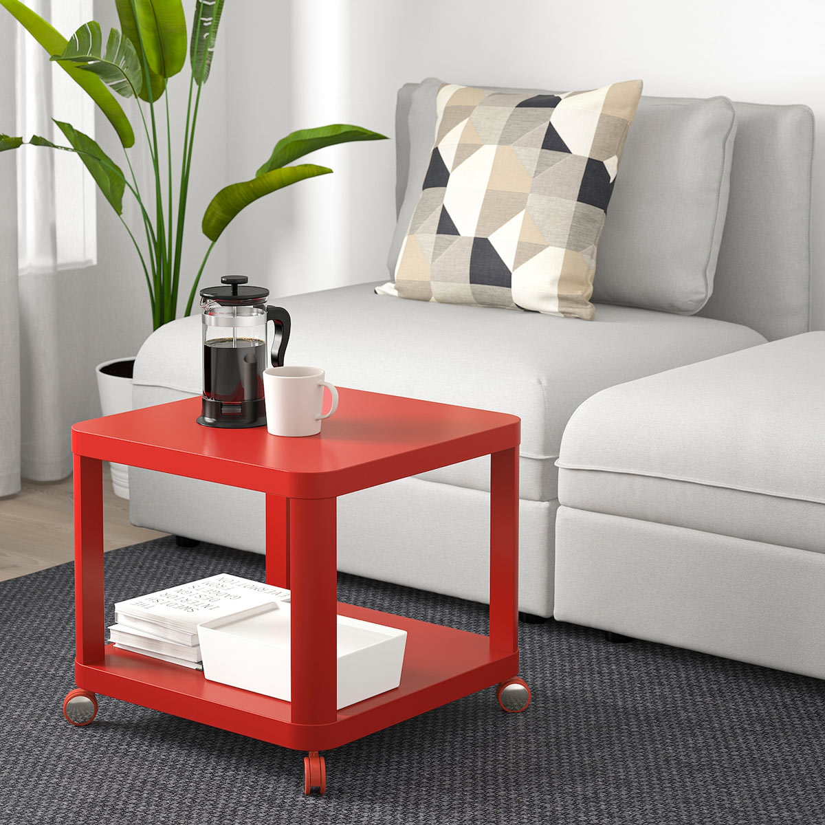 tavolino da salotto IKEA moderno rosso